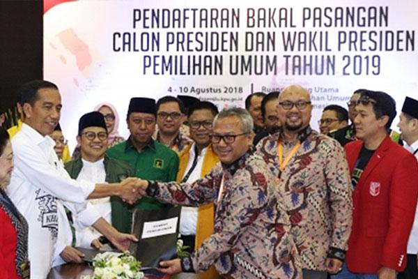 Jokowi – Ma'ruf Amin Resmi Terdaftar Sebagai Capres-Cawapres 2019